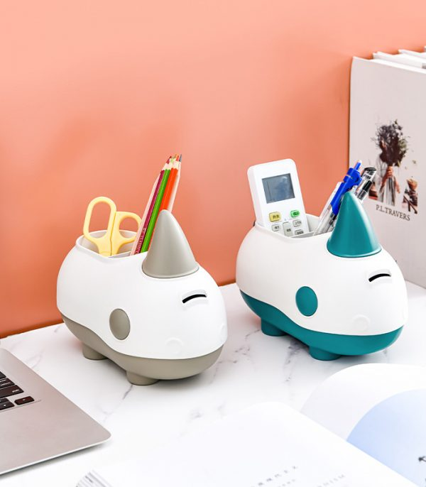 Rhino Coin Bank and Stationery Holder